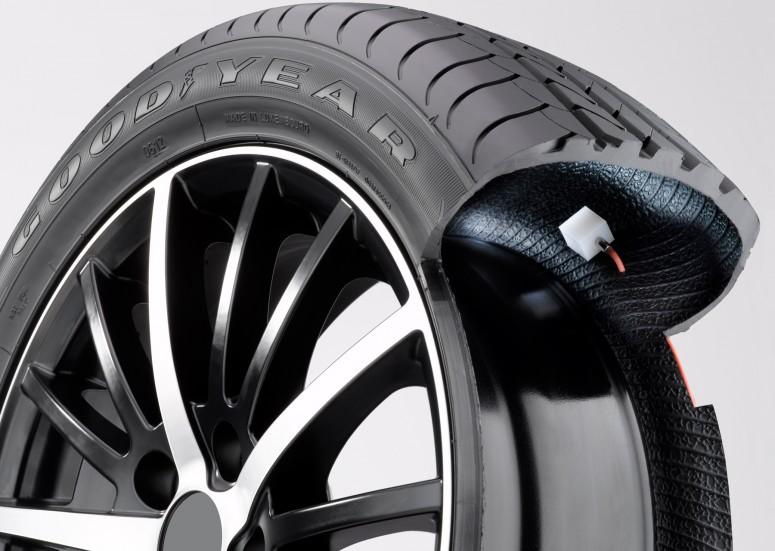 Goodyear показала шины с автоматической подкачкой
